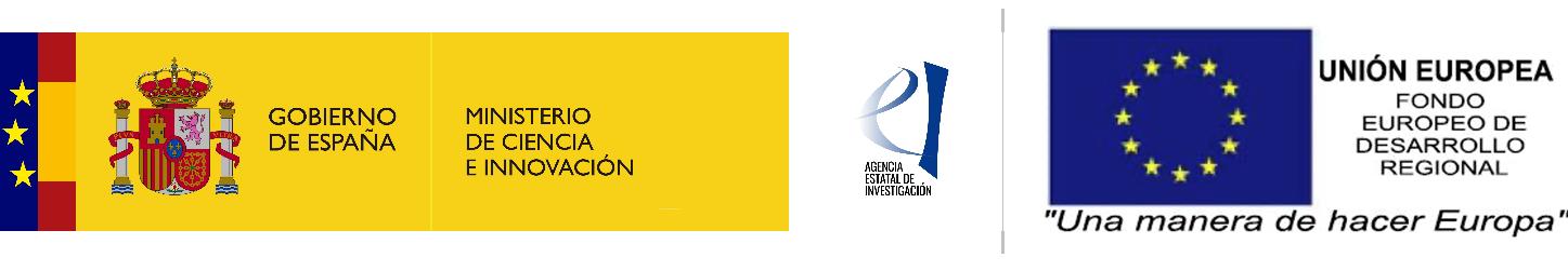 Ministerio de Ciencia e Innovación y Fondo Europeo de Desarrollo Regional
